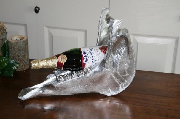 Jackass Jaw Bone Wine Bottle Holder
