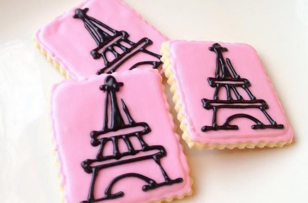 Pink Eiffel Tower Cookies