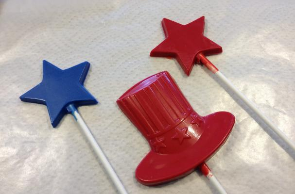 Uncle Sam Chocolate Lollipops