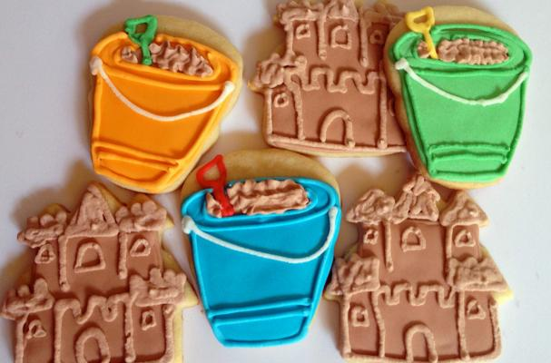 Sandcastle and Shovel and Pail Sugar Cookies