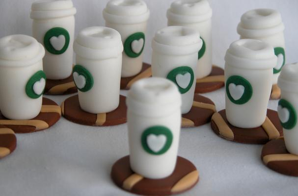 Coffee On the Go Cupcake Toppers