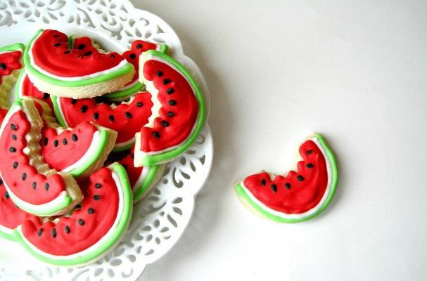 Watermelon Slices Sugar Cookies