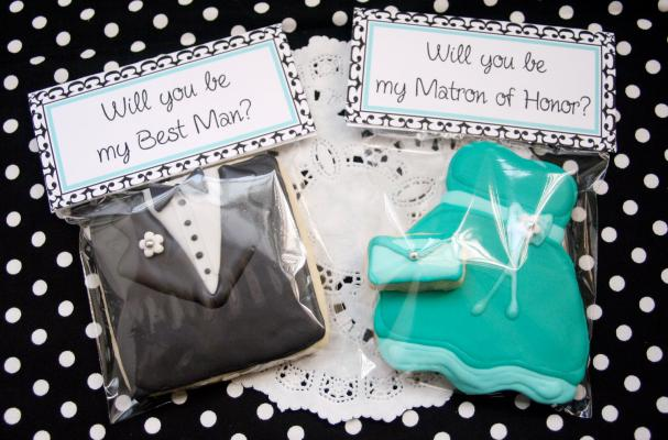 Will You Be My Bridesmaid/Groomsman Cookies