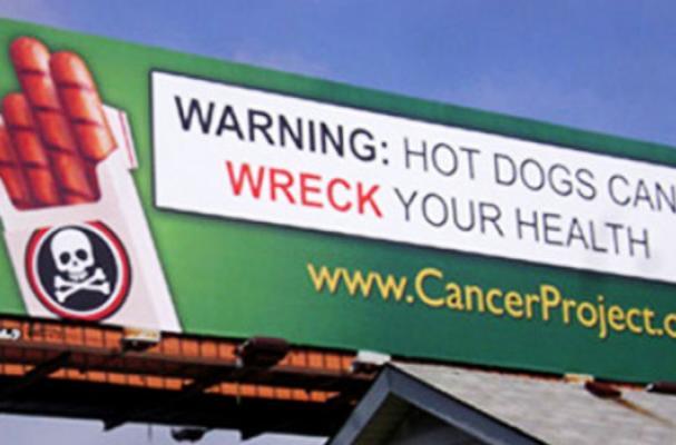 anti-hot dog billboard
