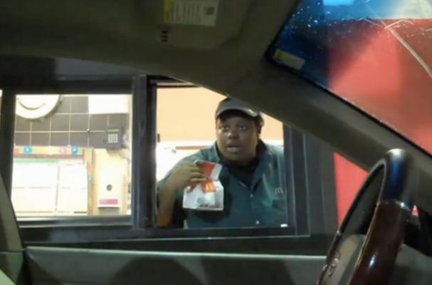 Invisible Driver Scares Drive-Through Employees