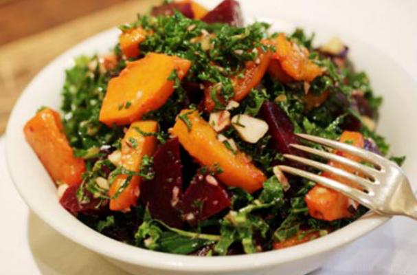 Kale and Beetroot Salad with Brazil Nuts