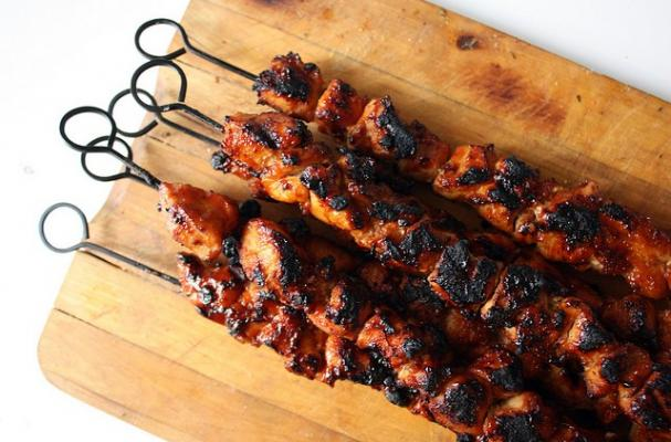 Foodista | Tropical Grilled Chicken Kebabs