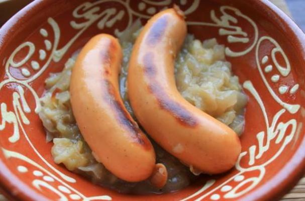 Knockwurst and Sauerkraut