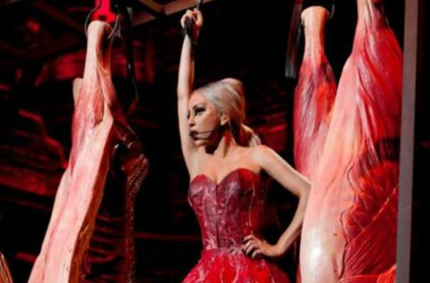 Lady Gaga Dons New Meat Dress in Tokyo