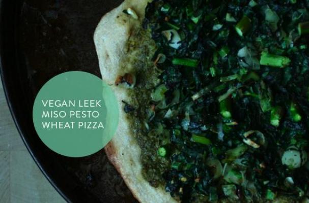 Vegan Leek Pesto Pizza