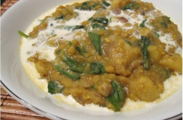 Lentils and potatoes