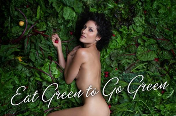 Lisa Edelstein Promotes Vegetarianism in Nude PETA Ad