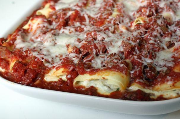 Foodista How To Recipe Spinach And Ricotta Manicotti
