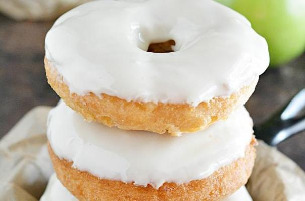 Maple-Glazed Apple Doughnuts