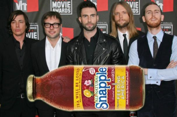 Maroon 5 and Snapple for Feeding America