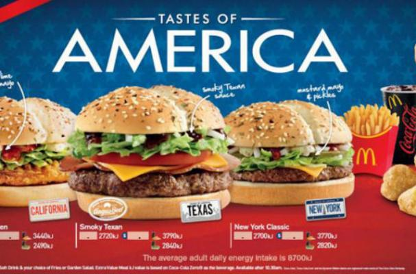McDonald's Adds American-Style Burgers to Australian Menu