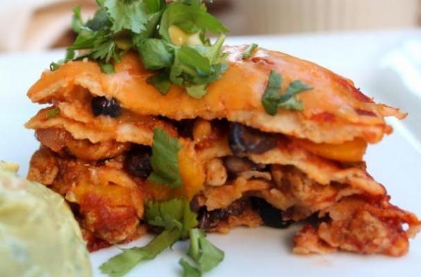 Mexican Lasagna with Chicken & Black Bean