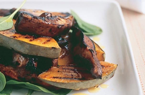 Barbecued Mushroom and Pumpkin Salad