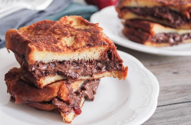 Foodista | Insane Bacon Nutella Stuffed French Toast