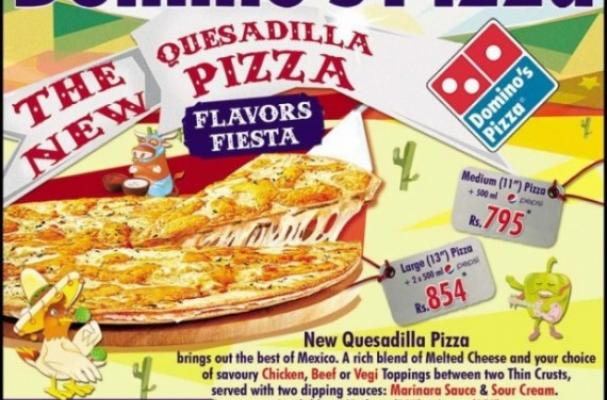 Domino's Quesadilla Pizza
