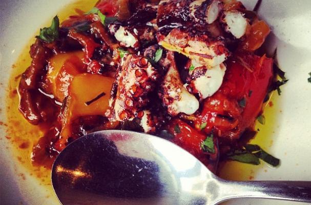 grilled octopus Italian white wine