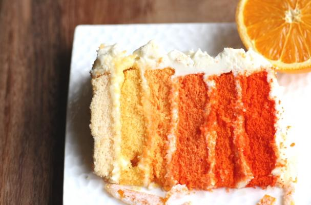 Foodista Outrageous Orange Ombre Cake