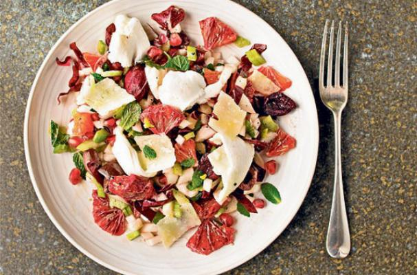 Chopped Blood Orange Salad With Mozzarella