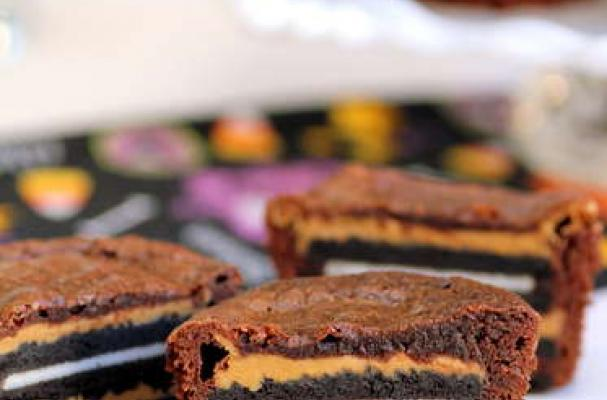 Foodista | Insane Oreo Peanut Butter Brownie Cakes