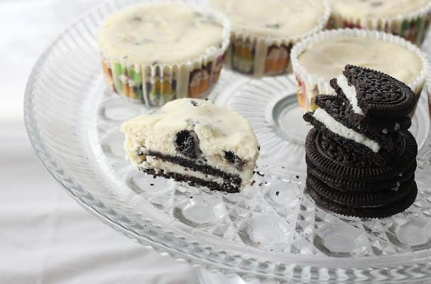 Foodista | Two-Bite Mini Oreo Cheesecakes