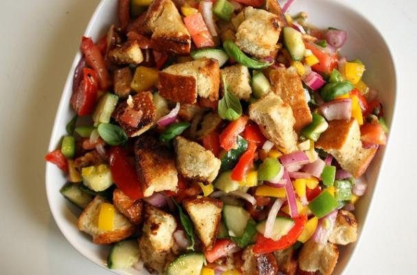 summer grilled shrimp panzanella grilled panzanella salad with grilled ...