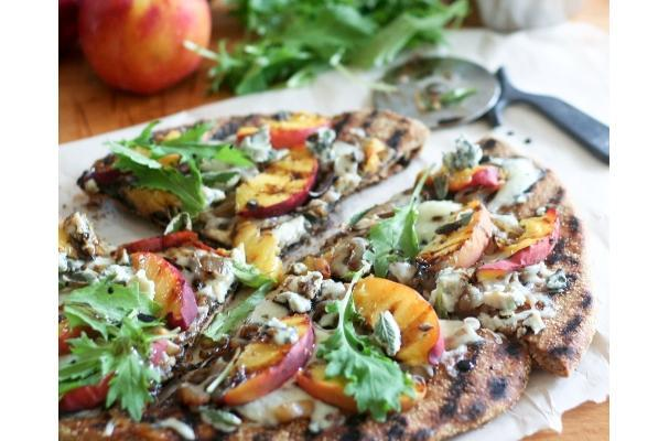 Foodista | Must Try: Rustic Grilled Peaches Pizza