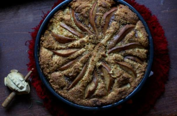 Winter Spiced Gluten-Free Pear Cake