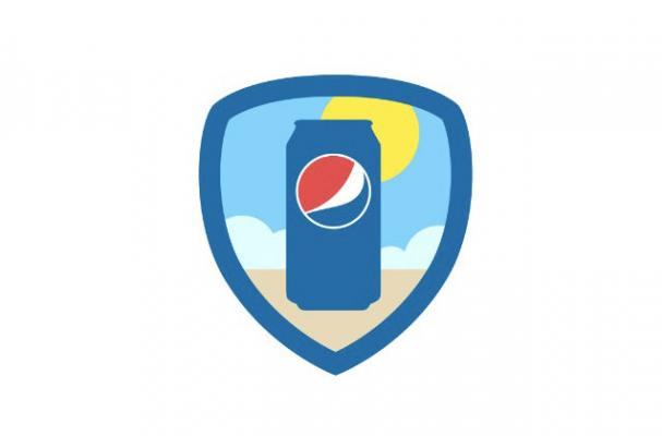 pepsi foursquare badge