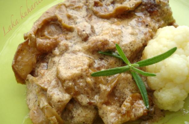 Pork w apple chips