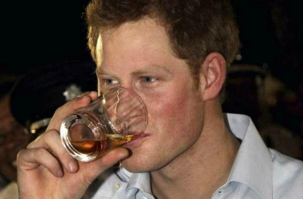 Prince Harry Samples Rum in Belize