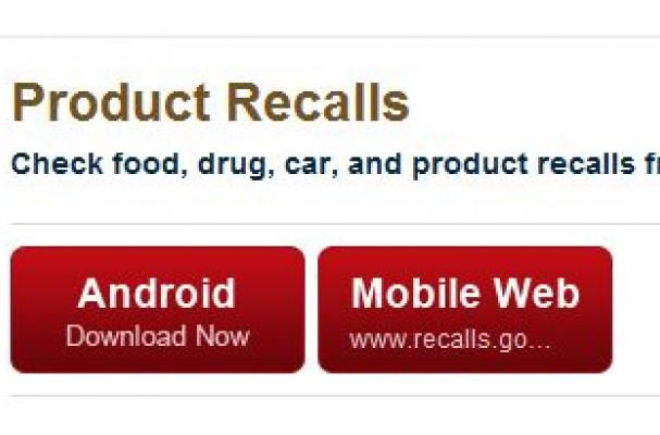 Android Food Recall App