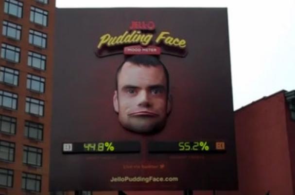 jell-o pudding face interactive billboard