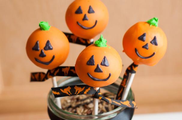 Foodista Adorable Jack O Lantern Cake Pops