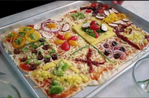 Foodista | Kid-Friendly Quilt Pizza has a Square for Everyone