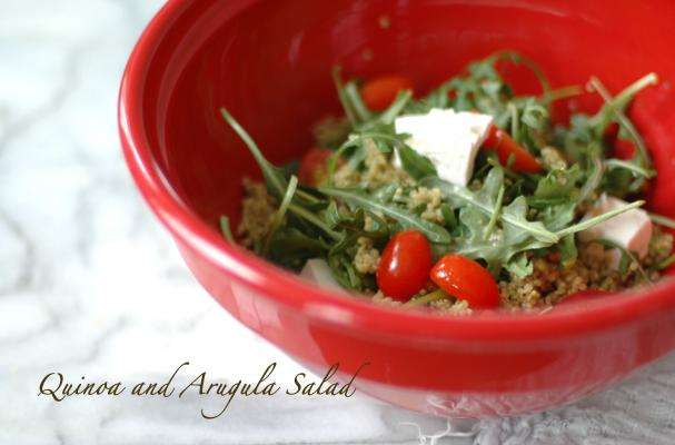 Pesto Quinoa and Arugula Salad