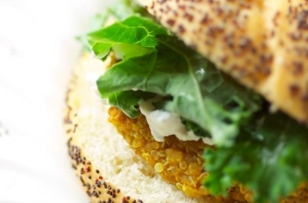 quinoa burger celebrates a creamy butternut squash and a crispy quinoa ...