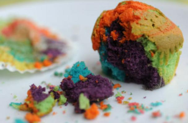 Rainbow Cupcakes are Colorful Confections