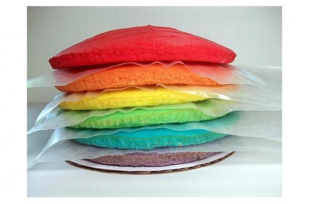 Almond Rainbow Cake