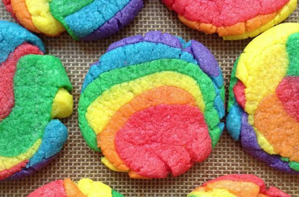 Foodista Delightful Rainbow Sugar Cookies