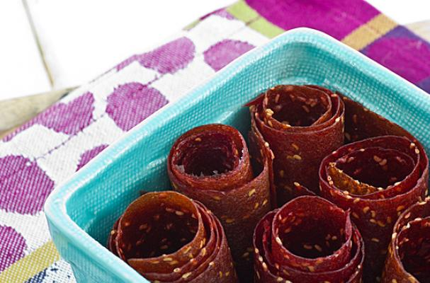 Foodista | Back to School Snacks: Raspberry Peach Fruit Leather