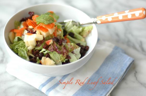 Spring Lunch: Simple Red Leaf Salad
