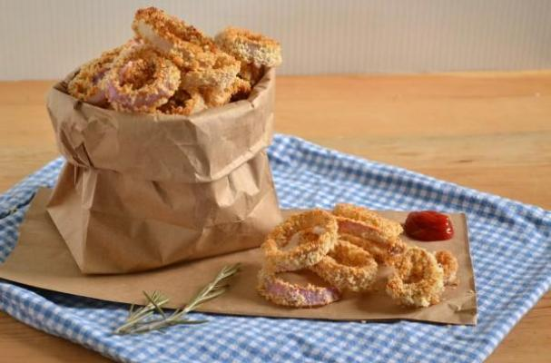 Baked Rosemary Red Onion Rings