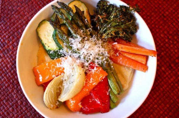 Around the World: Mediterranean Polenta with Roasted Vegetables