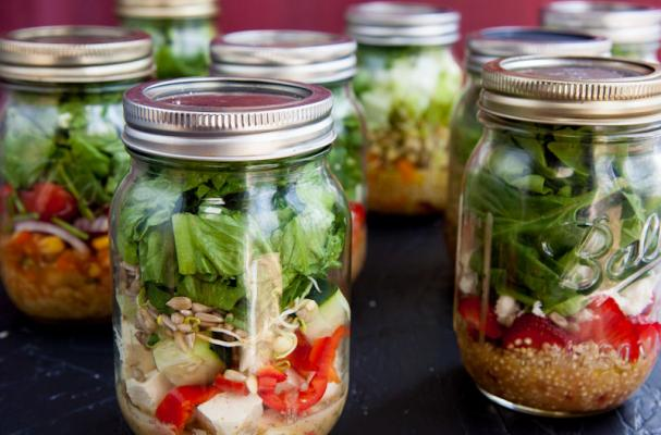 Foodista earth friendly food salad in a jar back to her roots shares four recipes for salad in a jar with foodista home cooks whether you are in need of a quick lunch or to go meal salad in a jar forumfinder Gallery