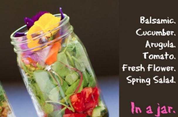 Balsamic Veggie Salad in a Jar